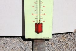 Veedol Oil Enamel Advertising Thermometer