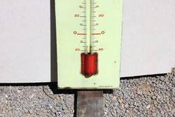 Veedol Oil Enamel Advertising Thermometer