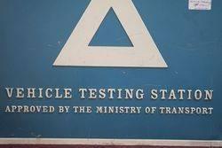 Vehicle Testing Station Aluminum Advertisements Sign