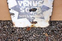 Venus Soap Double Sided Enamel Advertising Sign