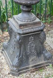 Verona Cast Iron Urn On Stand