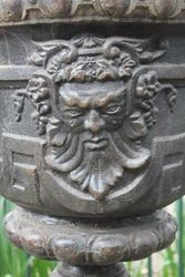 Verona Cast Iron Urn On Stand