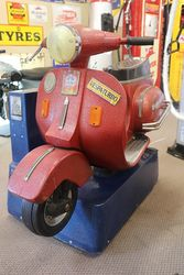 Vespa Motorcycle Coin operated childrenand39s ride