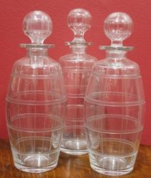 Victorian 3Bottle Tantalus on SilverPlated Stand