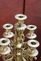 Victorian 3 Piece Brass Mantle Clock
