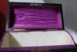 Victorian Brass Bound Coromandel Stationary Box
