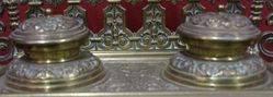 Victorian Brass Desktop Writing Set