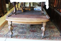 Victorian D End Mahogany Extension Table