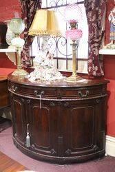 Victorian Half Round Mahogany Sideboard