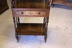 Victorian Inlaid Rosewood Wot Not