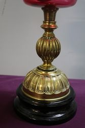 Victorian Ruby Glass Oil Lamp