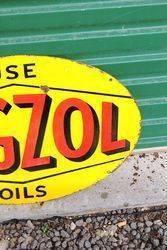Vigzol Oils Double Sided Enamel Sign