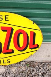 Vigzol Oils Double Sided Enamel Sign