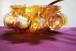 Vintage 26 Piece Carnival Glass Princess Punch Set