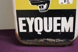 Vintage Eyquem Pictorial Spark Plug Tin Thermometer