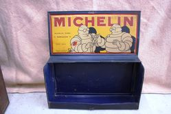 Vintage Michelin Pictorial Wall Mount Parts Box
