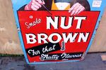Vintage Nut Brown Pictorial Enamel Sign