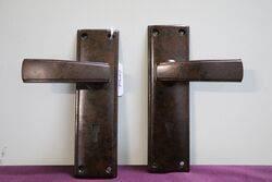 Vintage Pair Of Bakelite Lever Door Handle