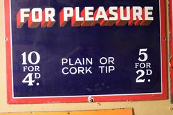 Vintage Park Drive For Pleasure Enamel Sign   mint