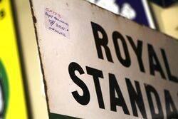 Vintage Royal Standard Post Mount Enamel Sign