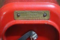 Vintage Samson Fire Alarm Pull Down Call Box Wall Mount