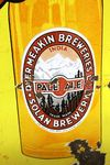 Vintage Solan Brewery Pictorial Enamel Sign