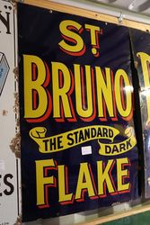Vintage St Bruno Flake Enamel Sign