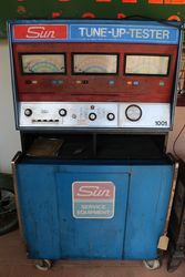 Vintage Sun Tune Up Tester 2 Piece Cabinet