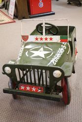Vintage Triang  Jeep US Army Pedal Car