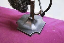 Vintage Wrought Iron 5 Piece Fire Tool Set