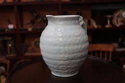 Vintage pottery blue jug BJP England