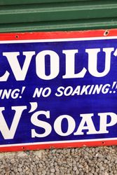 Vovolution Soap Pictorial Enamel Advertising Sign