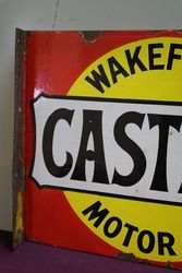 Wakefield Castrol Double Sided Enamel Advertising Sign