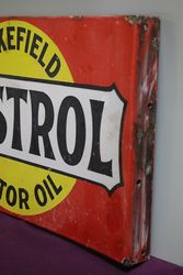 Wakefield Castrol Motor Oil Double Sided Enamel Sign