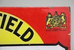 Wakefield Castrol Motor Oil Double Sided Enamel Sign