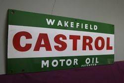 Wakefield Castrol Motor Oil Enamel Advertising Sign