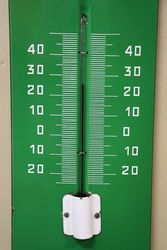 Wakefield Castrol andquotZandquot Enamel Advertising Thermometer Sign