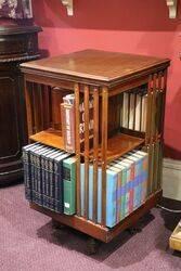 Walnut Revolving Bookcase