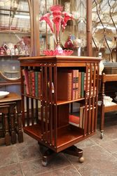 Walnut revolving Bookcase