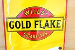 Willand96s Gold Flake Cigarettes Enamel Sign