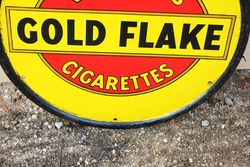 Wills Gold Flake Round Enamel Advertising Sign