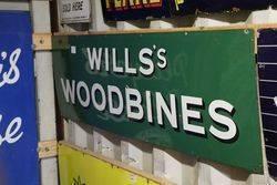 Wills Woodbine Strip Enamel Sign
