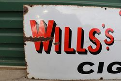 Willsand39s Gold Flake Cigarettes Enamel Advertising Sign