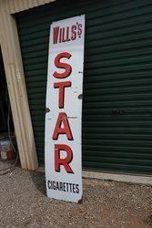 Willsand39s Star Cigarettes Enamel Advertising Sign