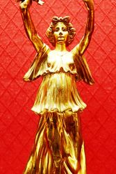 Wonderful Art Deco Gilt Bronze Figure C1900