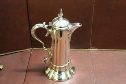 Wonderful Quality C19th Silver Plated Wine Jug