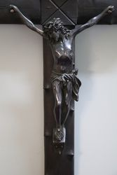Wonderful VIctorian Bronze Crucifix C1880and39s By CMontoy Paris
