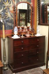 Wonderful Victorian Mahogany Chest Of Drawers Stamped Holland And Sons