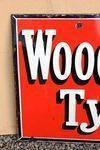 Wood Milne Tyres Enamel Sign