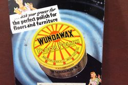Wundawax Tin Pictorial Advertising Sign